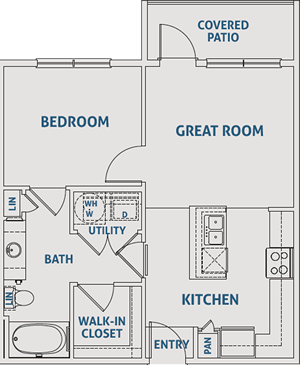 One Bedroom / One Bath - 638 Sq. Ft.*