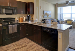 Interior Kitchen View at Martha's Vineyard Place Apartments