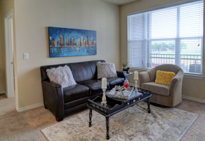 Photo of Living Room area within a Model Apartment at Martha's Vineyard Place Apartments