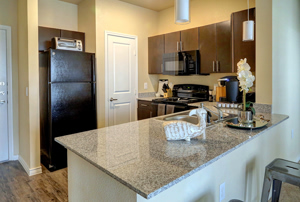 Photo Showing Closer Details of Kitchen Area at Martha's Vineyard Place Apartments